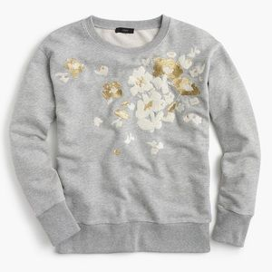 J. Crew embroidered flower sweatshirt